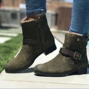 2/$60 MARC FISHER • Nattaly Faux Fur Collar Bootie
